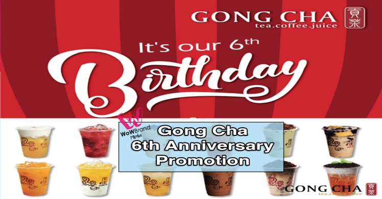 gong cha 6th anniversary promotion